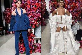 Pánská kolekce módy od mladého umělce zaujala i pobouřila veřejnost