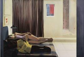 Caroline Walker, Vizita 1, 2013, olej, plátno, 2010x210 cm