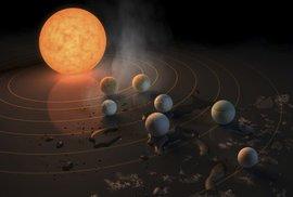 """Druhá """"sluneční soustava"""". Vědci objevili 3 nové obyvatelné planety, které nejsou…"""