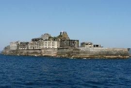 Opuštěný japonský ostrov Hašima