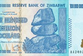 Bankovka Zimbabwe