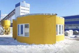 Tento dům byl vytvořen technikou 3D tisku, a to přímo na místě a za 24 hodin