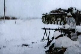Krvavá bitva u Stalingradu v barvách.