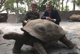 Andrej Babiš se synem v zoo Praha