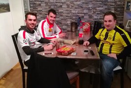 Fanoušci Dortmundu u sebe ubytovali příznivce Monaka a nabídli jim i večeři