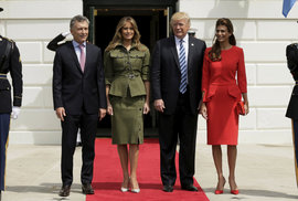 Donald Trump,  Mauricio Macri a jejich první dámy.