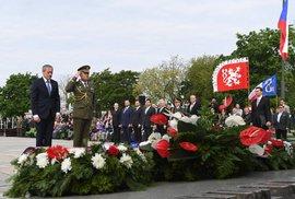 Pieta na Vítkově: Ministr obrany Stropnický s generálem Bečvářem (8. 5. 2017)