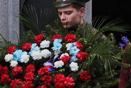 Slavnostní odhalení pamětní desky generála Sergeje Vojcechovského v Konviktské ulici