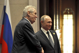 Setkání Miloše Zemana a Vladimíra Putina v Pekingu
