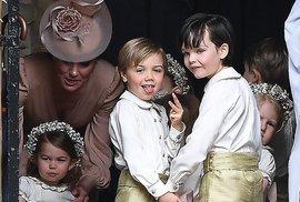 Královské děti, včetně princezny Charlotte.