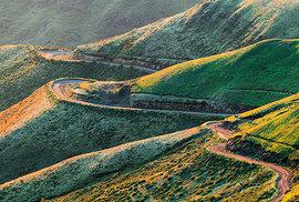 Silnice v Dračích horách, průsmyk Sani Pass