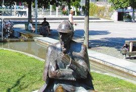 Švýcarské letovisko Meiringen. Právě zde měl zemřít slavný detektiv Sherlock Holmes