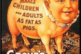 2. V reklamě na tonik se píše: Dělá děti i dospělé tlustými jako prasata.