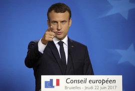 Francouzský prezident Macron se opřel do Česka: Evropa není supermarket