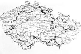 Mapa okleštěného českého státu