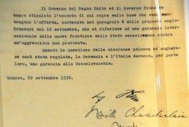 Italský originál Mnichovské dohody