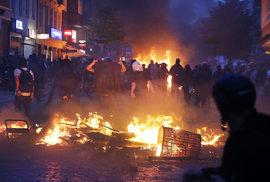 Protesty během summitu G20 v Hamburku