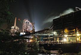 Osvětlené Třinecké železárny