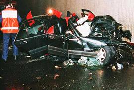Vrak auta, v němž zahynula princezna Diana