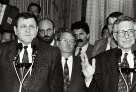 Čtvrt století od začátku konce Československa. Před 25 lety jej oznámili Klaus s Mečiarem