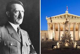 V rakouském parlamentu objevili po více než 70 letech obrazy a busty zobrazující Hitlera