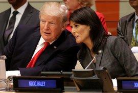 Trump na projevu OSN