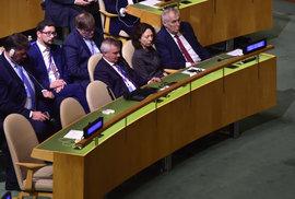 Miloš Zeman na Valném shromáždění OSN