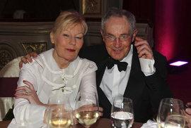 Jan Tříska s manželkou