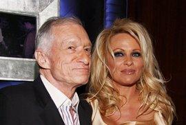 Pamela Anderson a Hugh Hefner