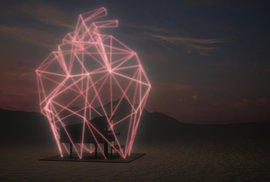 Signal Festival ŽIVĚ: Podívejte se, jak se mění obří svítící srdce nad interaktivním pianem