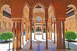 Město Granada, palácový komplex Alhambra, věhlasný Lví dvůr