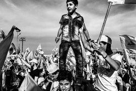 Hizballáh, oslavy vítězství nad Izraelem Vítězná fotografie roku 2017.