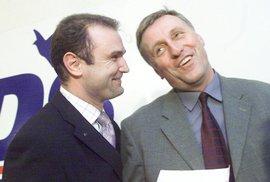 Mirek Topolánek a Ivan Langer