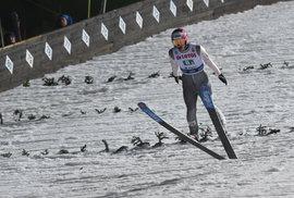 Jakub Janda při svém posledním závodu kariéry