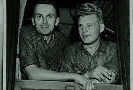 Miroslav Zikmund a Jiří Hanzelka (vpravo)