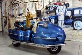 Unikátní český skútr Hausmann z roku 1947 je jediný exemplář na světě.
