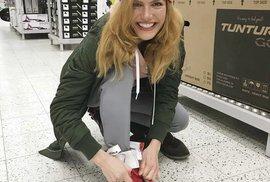 Gabriela Koukalová vyrazila na nákupy