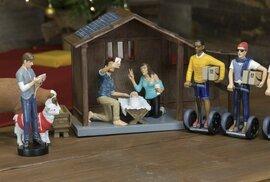 Vánoční úlet: Hipsterský betlém s mudrci na segwayích a sexy pannou Marií
