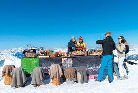 Höchster Bauernmarkt der Alpen in Ski Amade
