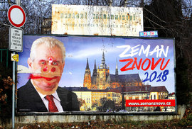 "Prezident lhář i ""nerušit, kradu"". Podívejte se na volební street art v Česku"