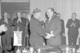 Antonín Novotný a vůdce maďarských komunistů János Kádár