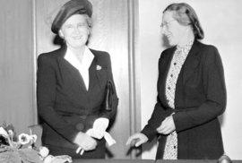 Milada Horáková s první dámou Hanou Benešovou v roce 1946