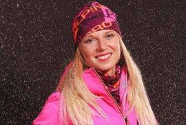 Česká biatlonistka Eva Puskarčíková.
