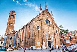 Kostel Frari, kde najdete Tizianův hrob
