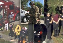 17 mrtvých na Floridě. Vyloučený student si postavil žáky a učitele na chodbu, pak je postřílel