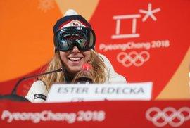 Ester Ledecká se stala nečekanou vítězkou v superobřím slalomu ve sjezdovém lyžování