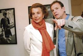Liliane Bettencourt s fotografem Banierem v roce 2006.