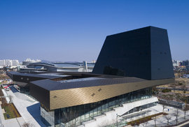 Nejmodernější autosalon. V sídle firmy Hyundai v Koreji najdete bambusový háj i muzeum