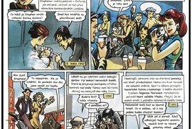Steven Hawking a jeho život v českém komiksu: Od narození po setkání s Homerem …
