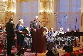 Zemanův mejdan: Takhle prezident děkoval svým příznivcům. Poslechněte si celý projev